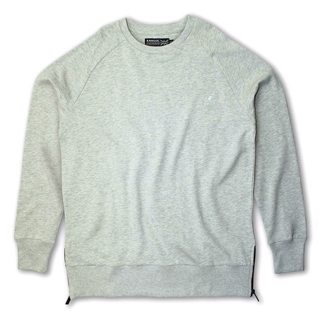 Side Zip French Terry Popover Crewneck // Oatmeal (S)