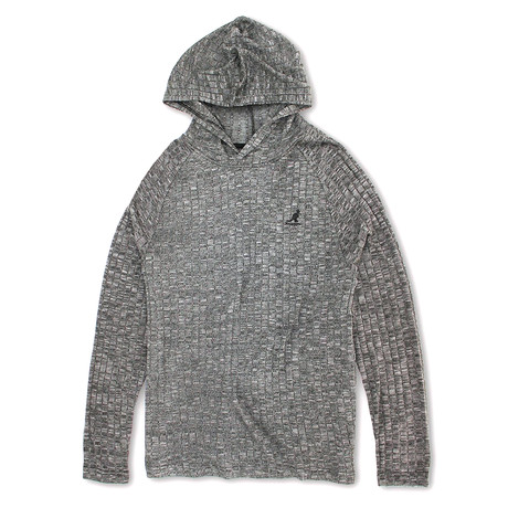 Ribbed Knit Hoodie Sweater // Black (S)