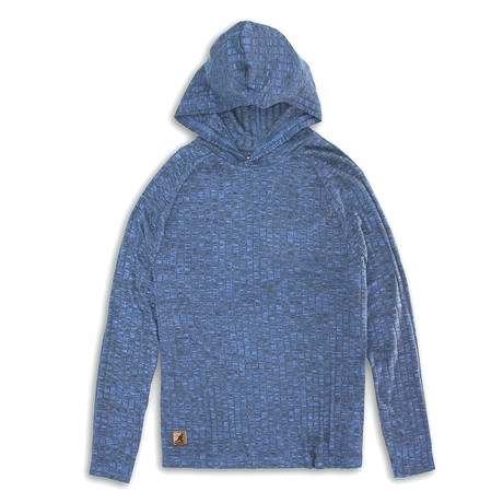 Ribbed Knit Hoodie Sweater // Navy (S)