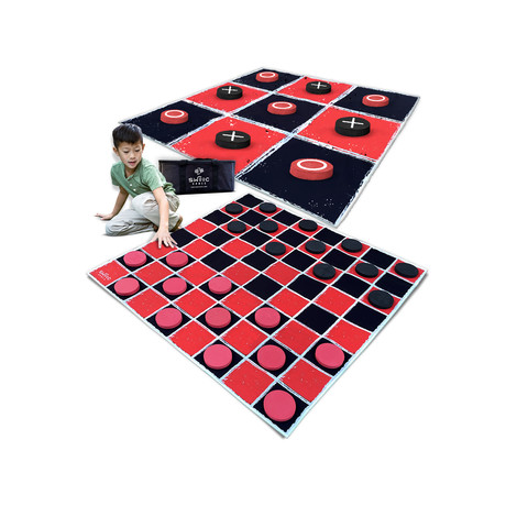 Vintage Giant Checkers Checkers + Tic Tac Toe