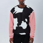 Cow Sweatshirt // Black + Pink (XL)