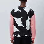 Cow Sweatshirt // Black + Pink (2XL)