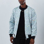 Cheetah Bomber Jacket // Gray (S)
