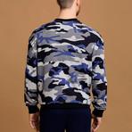 Camo Sweatshirt // Blue + Gray (S)
