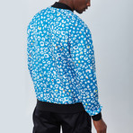 Cheetah Bomber Jacket // Blue (S)