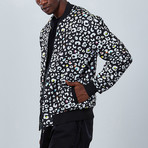 Cheetah Bomber Jacket // Black (L)