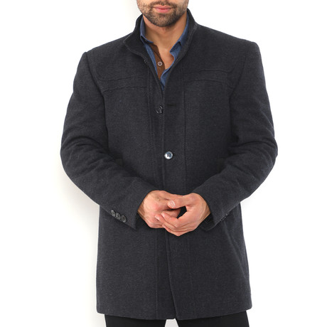 Crestone Overcoat // Patterned Dark Blue (Medium)