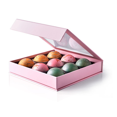 Belgian Dark Chocolate Truffle Box // 9 Piece Set // 1.2 oz Each