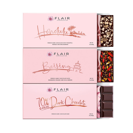 French Dark Chocolate Set // Set of 3 // 3 oz Each