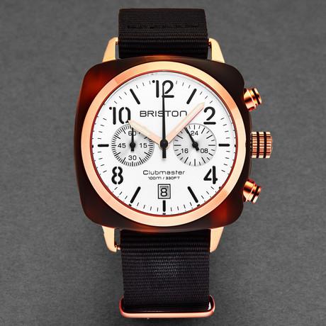 Briston Clubmaster Classic Chronograph Quartz // 17140.PRA.T.2.NB