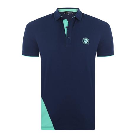 Adam Short Sleeve Polo Shirt // Navy (XS)