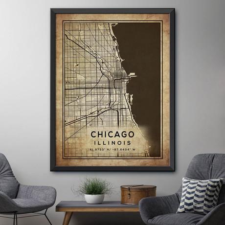"Chicago, Illinois (24""H x 18""W)"