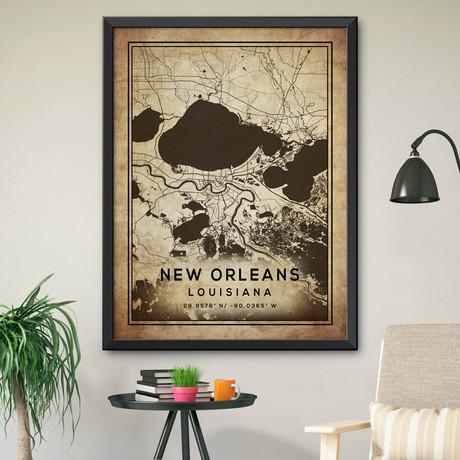"New Orleans, Louisiana (24""H x 18""W)"