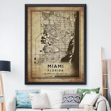 """Miami, Florida (24""""H x 18""""W)"""