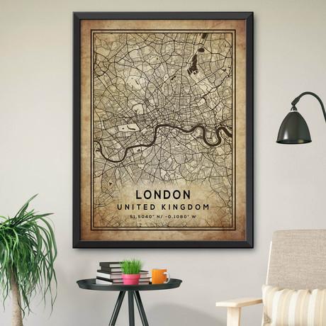 """London, United Kingdom (24""""H x 18""""W)"""