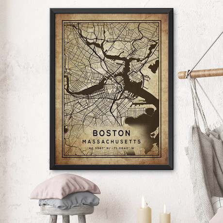 "Boston, Massachusetts (24""H x 18""W)"