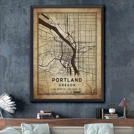 """Portland, Oregon (24""""H x 18""""W)"""
