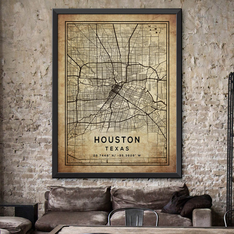 """Houston, Texas (24""""H x 18""""W)"""