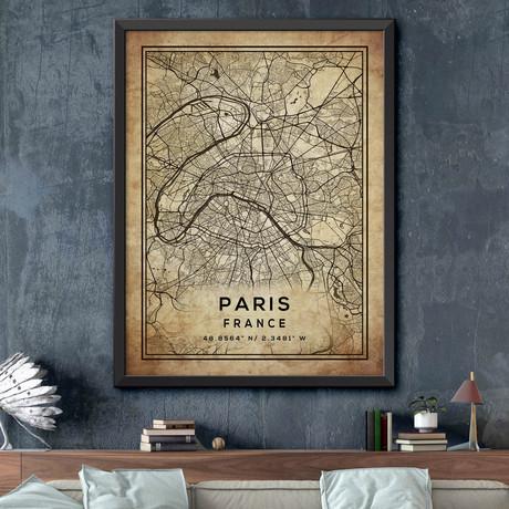 """Paris, France (24""""H x 18""""W)"""