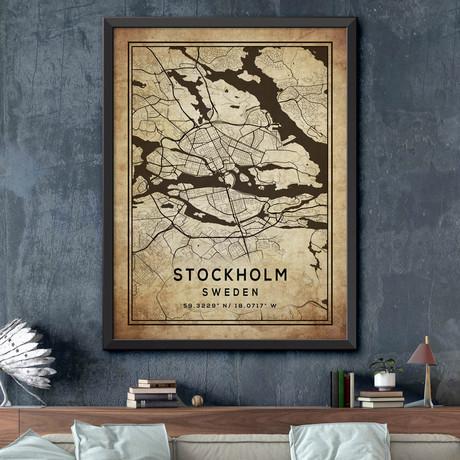 """Stockholm, Sweden (24""""H x 18""""W)"""