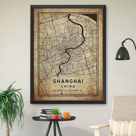 """Shanghai, China (24""""H x 18""""W)"""