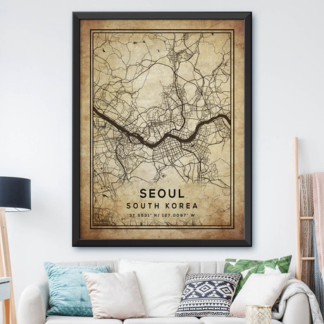"""Seoul, South Korea (24""""H x 18""""W)"""