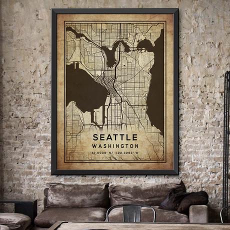 """Seattle, Washington (24""""H x 18""""W)"""