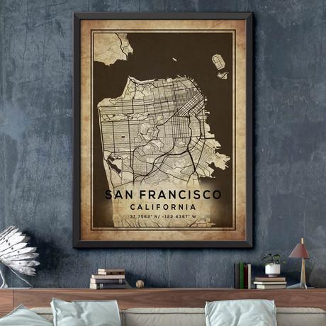"San Francisco, California (24""H x 18""W)"