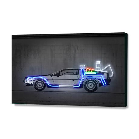 """DeLorean (24""""W x 16""""H x 1.5""""D)"""
