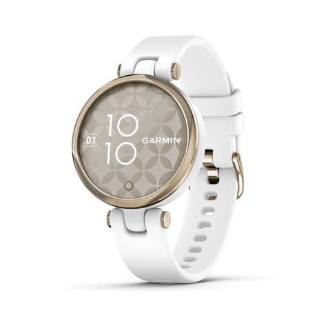 Lily™ Watch + Silicone Sport Band // Cream Gold + White // 010-02384-00