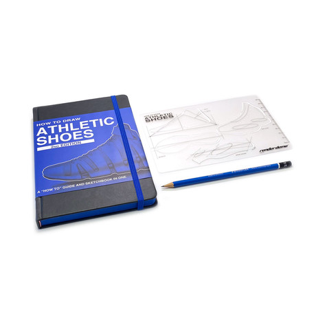 How to Draw: Athletic Shoes + Stencil
