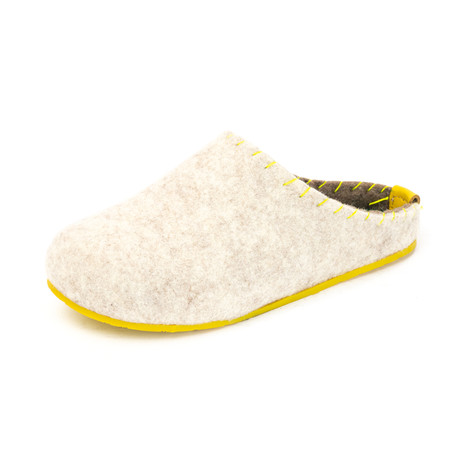 Pine House Slipper // Beige + Yellow Sole (Euro: 36)