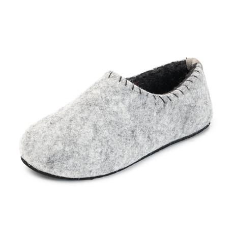 Yew House Slipper // Gray + Dark Gray Stitching (Euro: 36)