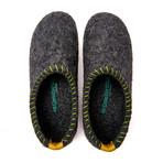 Yew House Slipper // Gray + Yellow Stitching + Yellow Tab (Euro: 36)