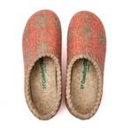 Yew House Slipper // Orange Plated + Beige Stitching + Green Sole (Euro: 44)