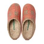 Pine House Slipper // Orange Plated + Beige Stitching + Green Sole (Euro: 40)