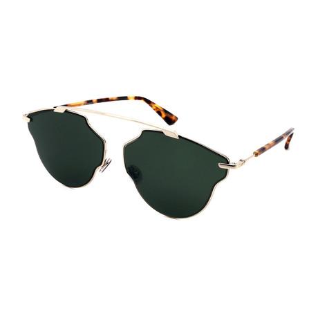 Unisex DIOR-SO-REAL-POP-3YG Sunglasses // Havana + Green