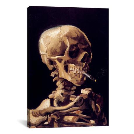 "Skull Of A Skeleton With Burning Cigarette, c. 1885-1886 // Vincent van Gogh (26""W x 40""H x 1.5""D)"