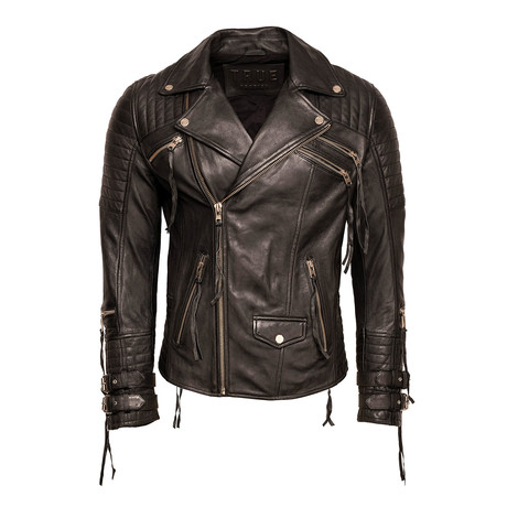 Cliff Leather Jacket // Black (Small)