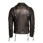 Cliff Leather Jacket // Black (2X-Large)