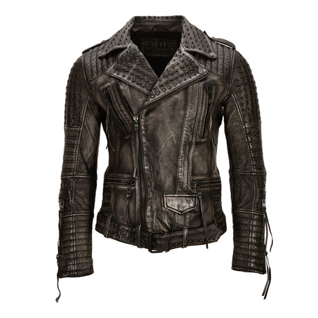 Geralt Leather Jacket // Black (Small)