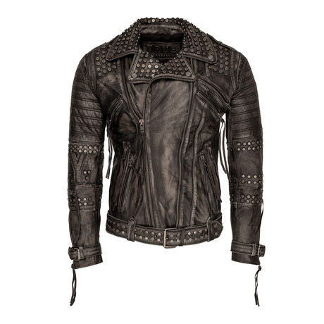 Ragnar Leather Jacket // Black (Small)