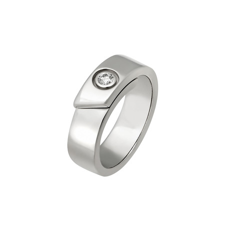 Cartier // 18k White Gold Diamond Ring // Ring Size: 4.75 // Pre-Owned