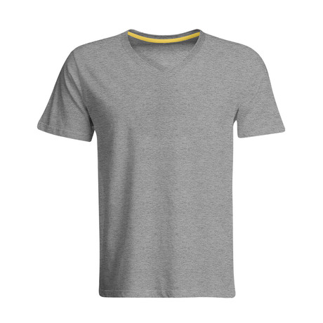 Odorless + Stain Resistant V-Neck Tee // Heather Gray (S)