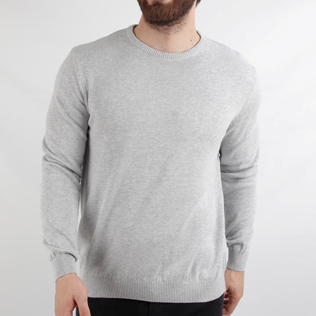 Aden Pullover Sweater // Light Gray (Medium)