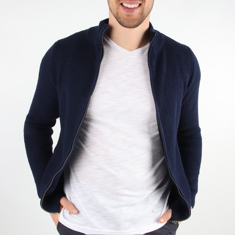 Max Cardigan // Navy Blue (Medium)