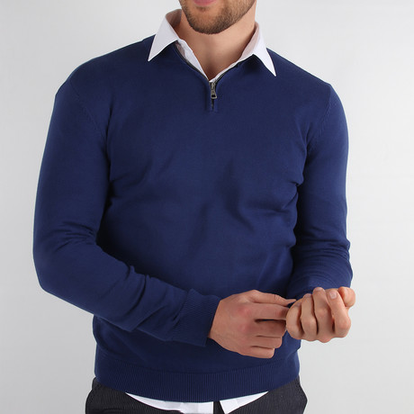 Florence Pullover Sweater // Navy Blue (Medium)