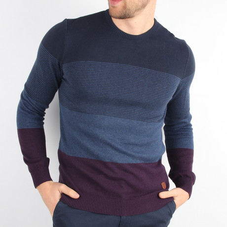 Axel Pullover Sweater // Navy Blue (Medium)