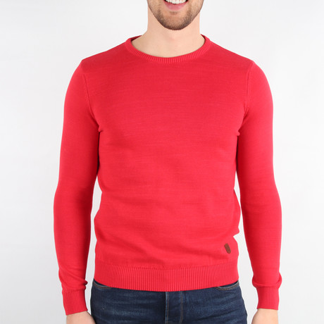 Joey Pullover Sweater // Red (Medium)