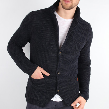 Yosemite Cardigan // Navy Blue (Medium)